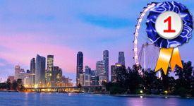 Singapore, voted Best Asian City for Meetings and Business in 2019