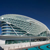 Abu Dhabi fun hotels. Yas Viceroy has ringside F1 race views