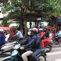 Hanoi fun guide to shopping, Hang Gai is abuzz with motorcycles