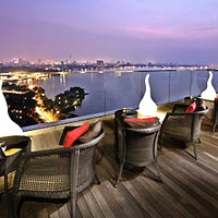 Hanoi nightlife, rooftop bar at Pan Pacific Hanoi
