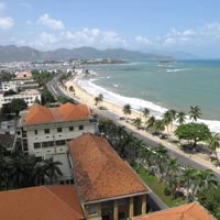 Nha Trang coastline and beach