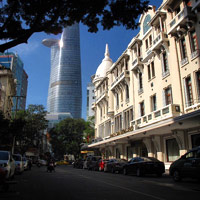 Saigon fun guide, Bitexco Tower and the old world Grand