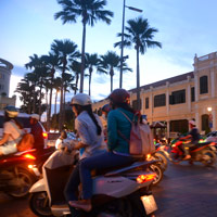 Saigon fun guide, streets abuzz with motorcycles Friday night