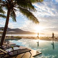 Fusion Suites Danang poolside