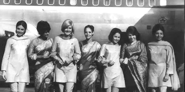 Air India crew in its fashion-statement heyday Seventies and Eighties