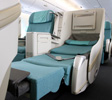 Widest business class seats, Korean Air Prestige Class