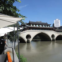 Chengdu guide to sights, Hejiang Pavilion or the Anshun Bridge near Shangri-La- photo by Vijay Verghese