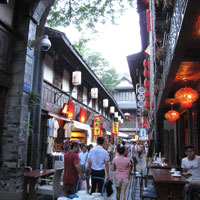 Chengdu fun guide for dining, Jinli old street  - photo by Vijay Verghese