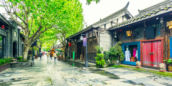 Chengdu fun guide and business hotels review - traditional Kuan and Zhai Alleys
