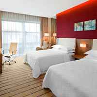 Qingdao business hotels review, colourful Four Points room