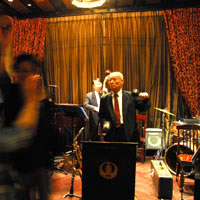 Shanghai nightlife, jazz band at Fairmont Peace Hotel