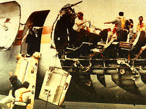Fuselage cracks can peel away aircraft skin and blow off parts of the cabin walls - ALoha Airlines B737 in 1988 incident
