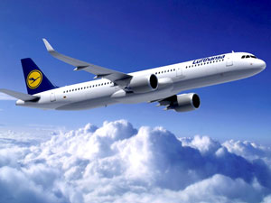 commercial biofuel flights, Lufthansa A321