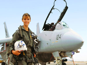 First female pilot of F14 Tomcat Carey Lohrenz