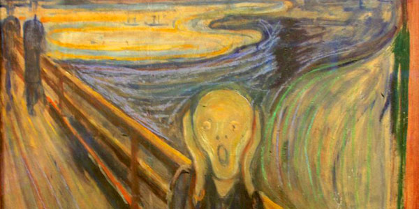 'Scream' by Edvard Munch best personifies traveller angst