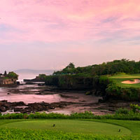 Nirwana Bali Golf Club next to Pan Pacific and Tanah Lot temple
