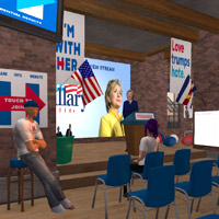 Clinton and Trump duke it out in virtual reality