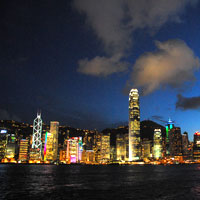 Hong Kong guide, the night skyline from TST