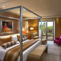 ITC Gardenia rooms compare well vs other Bangalore hotels like Oberoi and Taj
