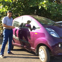TATA's Nano is an ultracompact popular on Indian roads