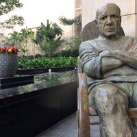 Picasso statue welcomes guests to the Ritz-Carlton
