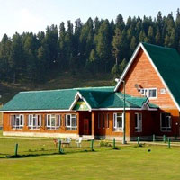 Golfing in India, the Gulmarg Golf Club has a nice alpine course