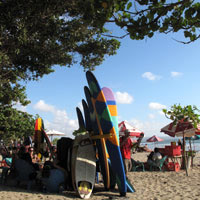 Bali fun guide, Kuta Beach for surfers and waves