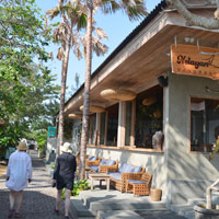 Sanur has several chic restaurants along the beachfront - or go cycling along the trail