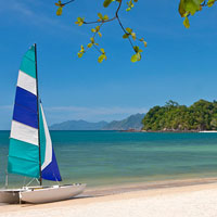 Langkawi resorts review, beach at The Andaman