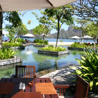 Tanjung Rhu Resort has a smart seafront pool