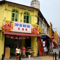 Penang guide, street corner shop-house
