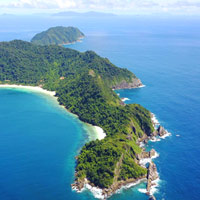 Mergui fun guide to island resorts, aerial view - Victoria Cliff Resort at Nyaung Oo Phee