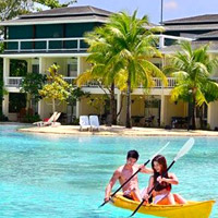 Cebu resorts review, Plantation Bay lagoon