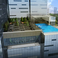 New Singapore business hotels, Westin poolside