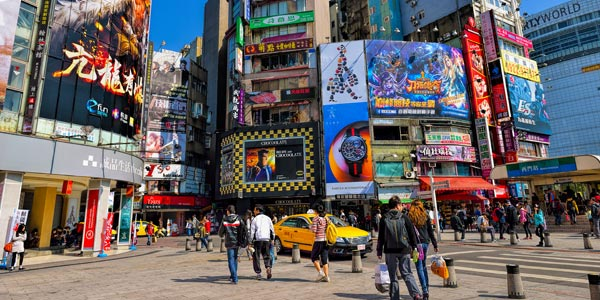 Taipei fun for the family, Ximending is a colourful nightlife hub