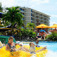 Splash Beach Resort by Langham is a hugely child-friendly Phuket hotel with splash slides