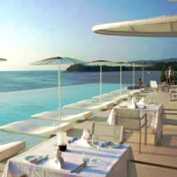 Phuket resorts review, Kata Rocks' pool rocks
