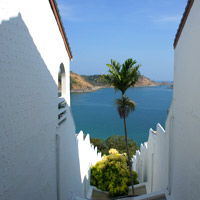 White stucco walls and grand views at The Nai Harn Phuket