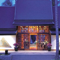 The Aman Spa at Amanpuri, Phuket, is set up the hill above the main pool - Thailand luxury spas