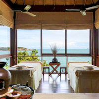 Thailand luxury spa resorts, Six Senses Samui - massage with a view